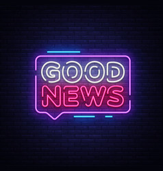good news neon sign good news design vector image