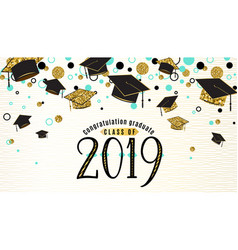 Graduation background class of 2019 with graduate vector