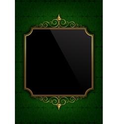 Green celebration paper vector