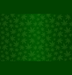 Green pattern with cannabis vector