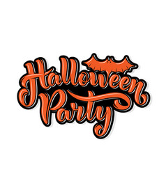 happy halloween party lettering for your design vector image