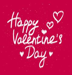 happy valentines day calligraphy phrase vector image