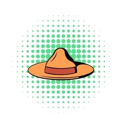Hat icon in comics style vector