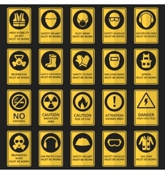Health and safety signs equipment must be worn vector