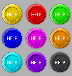 Help point sign icon Question symbol Set of vector image
