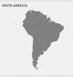 high quality map south america vector image