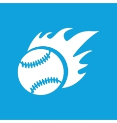 Hot baseball icon simple vector
