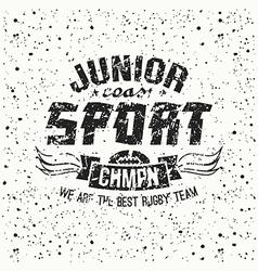 Junior rugteam emblem vector
