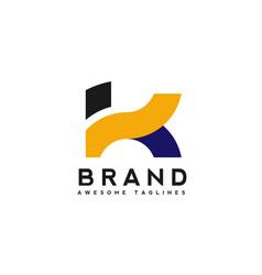 letter k logo simple design template business corp vector image