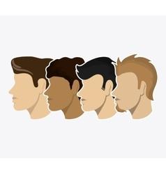 Man people head design vector