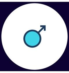 man sex computer symbol vector image