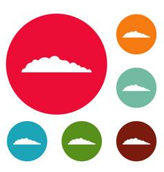 meteorology icons circle set vector image