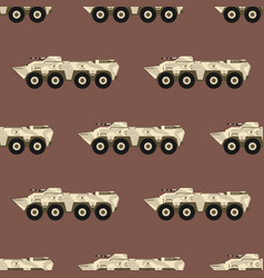 military transport technic army war tanks industry vector image