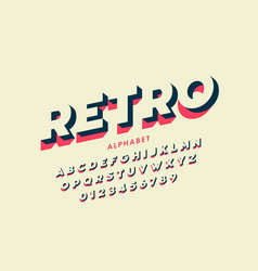 Modern font design in retro style vector