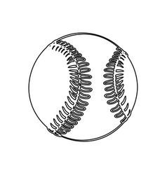 monochrome contour of baseball ball vector image