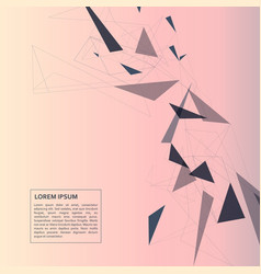 network mesh polygonal background vector image