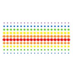 operator head shape halftone spectrum pattern vector image