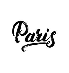 Paris hand written calligraphy lettering vector