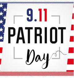 Patriot day card usa vector