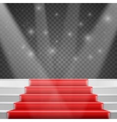 Photorealistic Stairs Podium with Red vector image