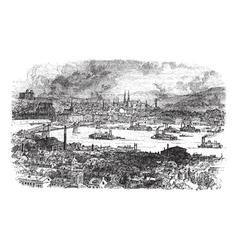 Pittsburgh vintage engraving vector image