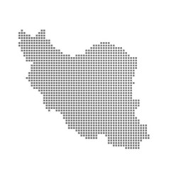 pixel map of iran dotted map of iran isolated on vector image
