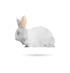 Rabbit isolated on a white background vector