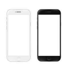 realistic mobile phone vector image