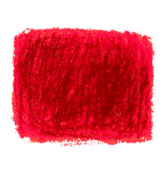 red crayon scribble texture stain isolated on vector image