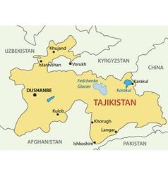 Republic of Tajikistan - map vector image