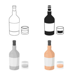 rum icon in cartoon style isolated on white vector image