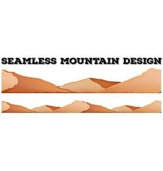Seamless brown mountain range vector