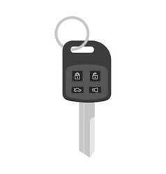 Security car key with remote control cartoon flat vector image