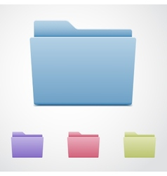 Set of computer folders vector image