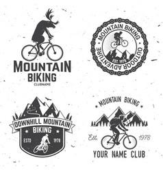 set of mountain biking clubs vector image