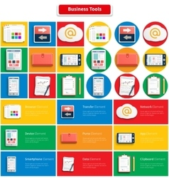 Set of Office and Business Work Elements vector