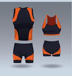 set of sport wear vector image