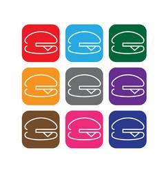 Simple line web icons set hamburger vector