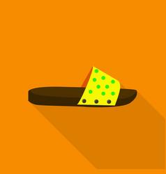 Slipper icon flat style vector