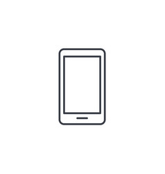 Smartphone mobile phone thin line icon linear vector