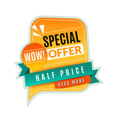 special offer price tag promotional discount vector image