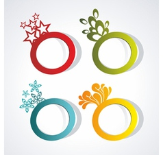 sticker for text vector image vector image