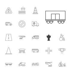 Traffic icons vector