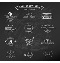 Valentines day - set of badges and labels vector