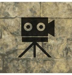 Video camera icon symbol Flat modern web design vector image