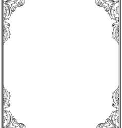 Vintage retro frame for design Ornamental floral vector
