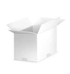 White open carton box vector image
