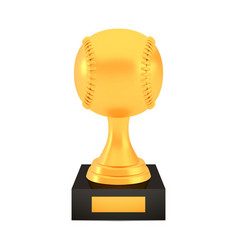 winner baseball cup award on stand with empty vector image