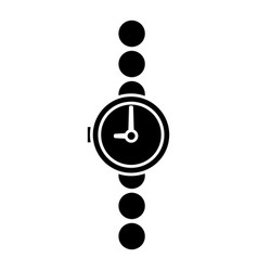 Wristwatch isolated symbol vector