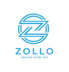 Zigzag logo design template vector